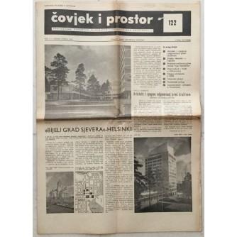 ČOVJEK I PROSTOR , ARHITEKTURA ČASOPIS BROJ 122 GODINA 1963.
