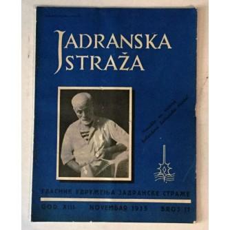 JADRANSKA STRAŽA 1935. BROJ 11