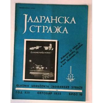 JADRANSKA STRAŽA 1935. BROJ 10