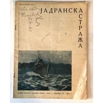 JADRANSKA STRAŽA 1932. BROJ 11