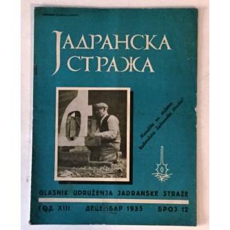 JADRANSKA STRAŽA 1935. BROJ 12