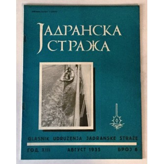 JADRANSKA STRAŽA 1935. BROJ 8