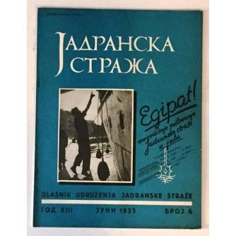 JADRANSKA STRAŽA 1935. BROJ 6