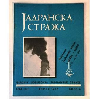 JADRANSKA STRAŽA 1935. BROJ 4