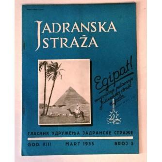 JADRANSKA STRAŽA 1935. BROJ 3