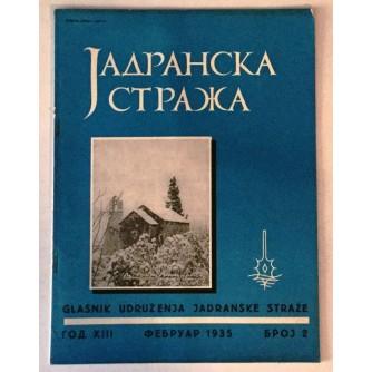 JADRANSKA STRAŽA 1935. BROJ 2