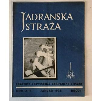 JADRANSKA STRAŽA 1935. BROJ 1