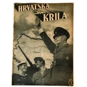 HRVATSKA KRILA ČASOPIS 1942. BROJ 1