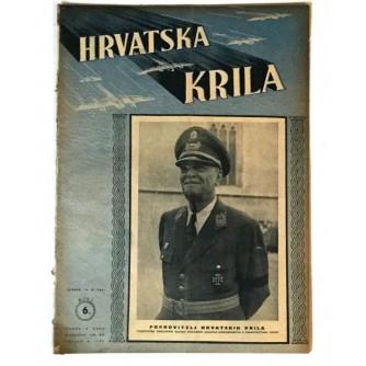 HRVATSKA KRILA ČASOPIS 1941. BROJ 6