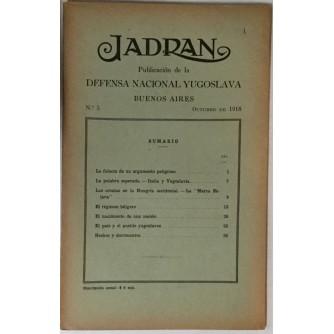 JADRAN : PUBLICACION DE LA DEFENSA NACIONAL YUGOSLAVIA : 1919. BUENOS AIRES No. 5