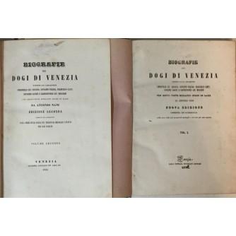 ANTONIO NANI : BIOGRAFIE DEI DOGI DI VENEZIA I-II 1852.