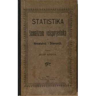 JOSIP KRŠKA : STATISTIKA I ŠEMATIZAM VELEPOSJEDNIKA U HRVATSKOJ I SLAVONIJI