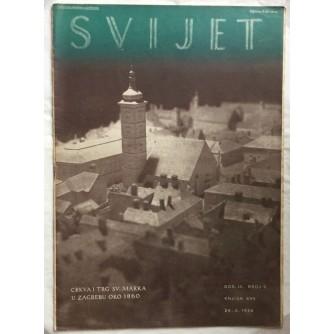 SVIJET ČASOPIS KNJIGA 17 GODINA 1934 BROJ 9