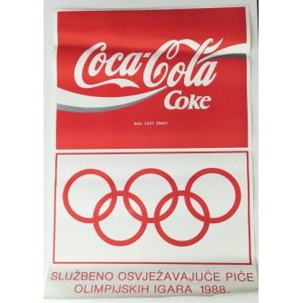 COCA-COLA SPONZOR OLIMPIJSKI IGARA 1988 , REKLAMNI PLAKAT