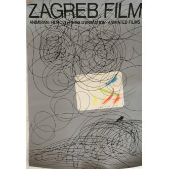 ZAGREB FILM , ANIMIRANI FILMOVI , REKLAMNI PLAKAT , AUTOR NEDELJKO DRAGIĆ
