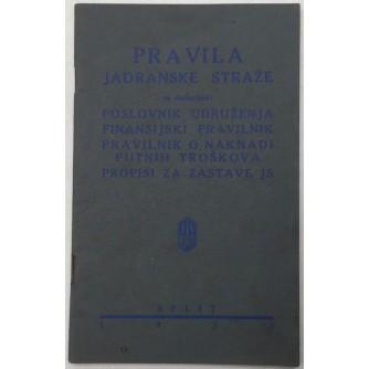 PRAVILA JADRANSKE STRAŽE 1933.