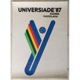 UNIVERSIADE 87 , REKLAMNI PLAKAT , AUTOR DUŠKO BEKER