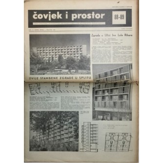 ČOVJEK I PROSTOR , ARHITEKTURA , ČASOPIS BROJ 88/89 IZ 1959.