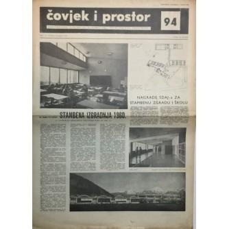 ČOVJEK I PROSTOR , ARHITEKTURA , ČASOPIS BROJ 94 IZ 1960