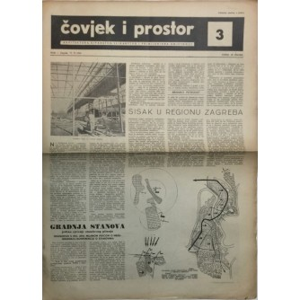 ČOVJEK I PROSTOR , ARHITEKTURA , ČASOPIS BROJ 3 IZ 1954