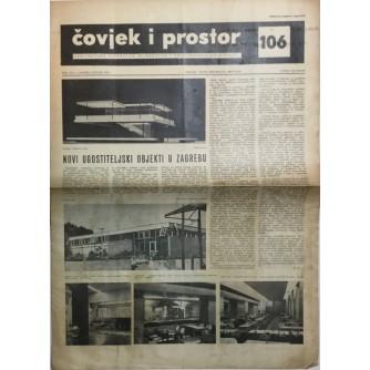 ČOVJEK I PROSTOR , ARHITEKTURA , ČASOPIS BROJ 106 IZ 1961.