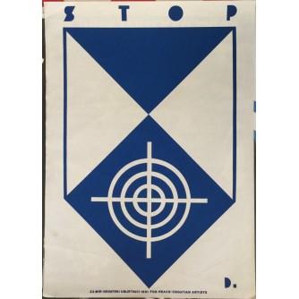 STOP-ZA MIR-HRVATSKI UMJETNICI 1991.PROPAGANDNI PLAKAT