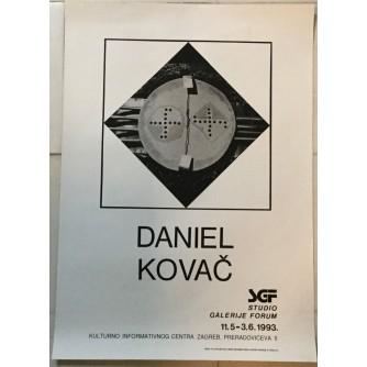 DANIEL KOVAČ GALERIJA FORUM 1993. IZLOŽBENI PLAKAT