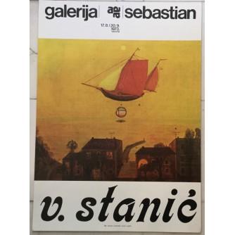 VOJISLAV STANIĆ IZLOŽBA GALERIJA SEBASTIJAN 1973. PLAKAT