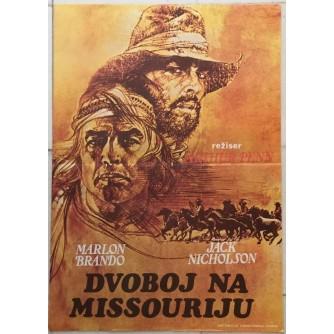 DVOBOJ NA MISSOURIJU-THE MISSOURIBREAKS , MARLON BRANDO JACK NICHOLSON , FILMSKI PLAKAT