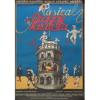 OSVAJANJE KAZALIŠTA MUSICAL , NARODNO KAZALIŠTE AUGUST CESAREC , VARAŽDIN , PLAKAT ,  AUTOR MERKAŠ