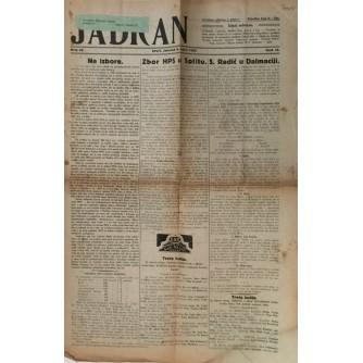 JADRAN SPLIT , NOVINE BROJ 36 , GODINA 1927.
