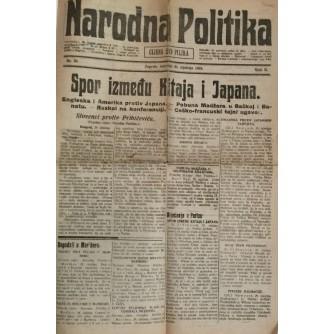 NARODNA POLITIKA , NOVINE  BROJ 29 , GODINA 1919.