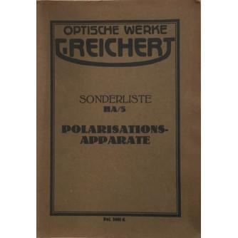 OPTISCHE WERKE G. REICHERT SONDERLISTE HA 5 POLARISATIONS APARATE