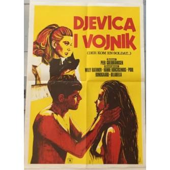 DJEVICA I VOJNIK-DER KOM EN SOLDAT , FILMSKI PLAKAT