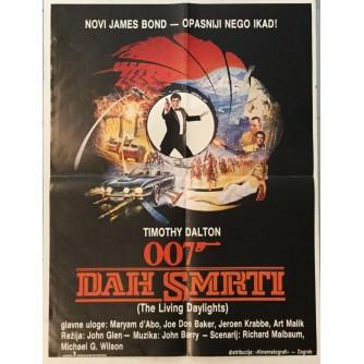 TIMOTHY DALTON : JAMES BOND DAH SMRTI-THE LIVING DAYLIGHTS , FILMSKI PLAKAT