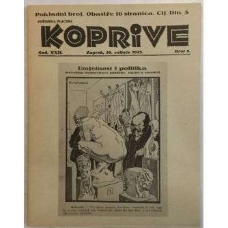 KOPRIVE , MEŠTROVIĆ U KARIKATURI I LIKOVNOJ KRITICI DO DRUGOG SVJETSKOG RATA , REPRINT ČASOPISA BR  8 IZ 1925.