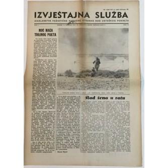 NOVINE IZVJEŠTAJNA SLUŽBA FAŠISTIČKE NARODNE STRANKE KOD USTAŠKOG POKRETA BROJ 16  GODINA 1941