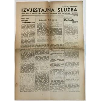 NOVINE IZVJEŠTAJNA SLUŽBA FAŠISTIČKE NARODNE STRANKE KOD USTAŠKOG POKRETA BROJ 17-18 GODINA 1941