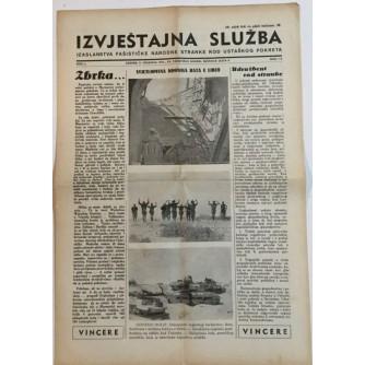 NOVINE IZVJEŠTAJNA SLUŽBA FAŠISTIČKE NARODNE STRANKE KOD USTAŠKOG POKRETA BROJ 15 GODINA 1941
