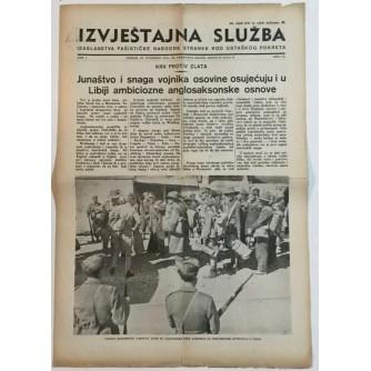 NOVINE IZVJEŠTAJNA SLUŽBA FAŠISTIČKE NARODNE STRANKE KOD USTAŠKOG POKRETA BROJ 14 GODINA 1941