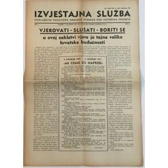 NOVINE IZVJEŠTAJNA SLUŽBA FAŠISTIČKE NARODNE STRANKE KOD USTAŠKOG POKRETA BROJ 7 GODINA 1941