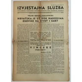 NOVINE IZVJEŠTAJNA SLUŽBA FAŠISTIČKE NARODNE STRANKE KOD USTAŠKOG POKRETA BROJ 6 GODINA 1941
