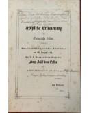 FROLICHE ERINNERUNG FUR OESTERREICHS VOLKER , ZUM ALLERHOCHSTEN GLORREICHEN GEBURTSFESTE AM 18 AUGUST 1854. , ER.F.F. APOSTOLISCHEN MAJESTAT FRANZ JOSEF DEM ERSTEN