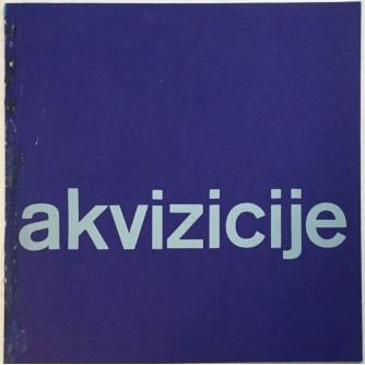 GALERIJA PRIMITIVNE UMJETNOSTI : AKVIZICIJE KATALOG IZLOŽBE ZAGREB 1965. OPREMA IVAN PICELJ