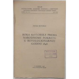 PAVAO BUTORAC : BOKA KOTORSKA PREMA NARODNOME POKRETU U REVOLUCIONARNOJ GODINI 1848.