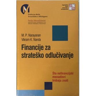 NARAYANAN I NANDA : FINANCIJE  ZA STRATEŠKO ODLUČIVANJE