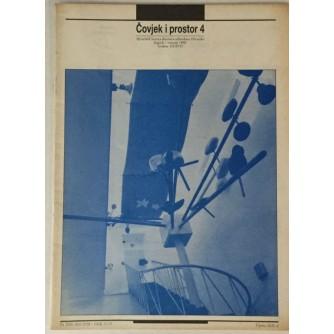 ČASOPIS ČOVJEK I PROSTOR , ARHITEKTURA , ,BROJ 4 , GODINA 1990