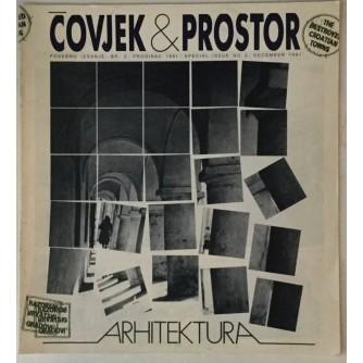 ČASOPIS ČOVJEK I PROSTOR , ARHITEKTURA , ,BROJ 2 , GODINA 1991