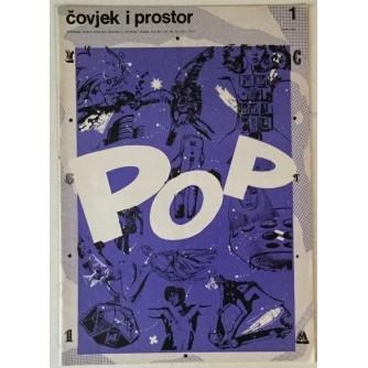 ČASOPIS ČOVJEK I PROSTOR , ARHITEKTURA , POP DIZAJN , BROJ1 GODINA 1989.