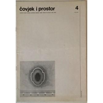 ČASOPIS ČOVJEK I PROSTOR ,  ARHITEKTURA BROJ 4 , GODINA 1989